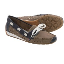 Rieker Nadja 26 Leather Loafers (For Women) in Beige/Navy/White - Closeouts