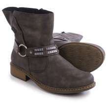 Rieker Philippa 78 Ankle Boots - Leather (For Women) in Grey - Closeouts