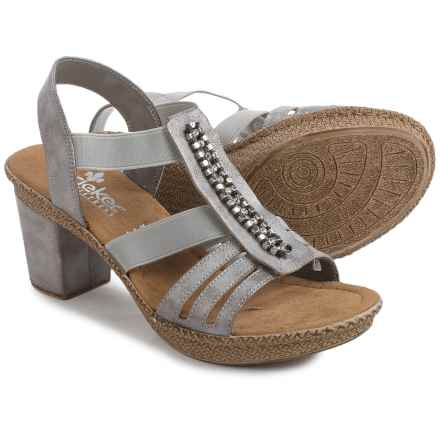 Rieker Rabea 84 Sandals - Vegan Leather (For Women) in Grey - Closeouts