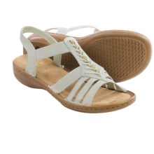 Rieker Regina 11 Sandals - Vegan Leather (For Women) in White - Closeouts