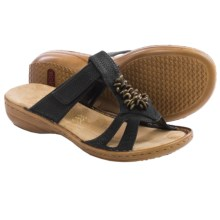 Rieker Regina 47 Sandals - Vegan Leather (For Women) in Black - Closeouts