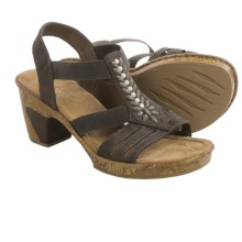 Rieker Roberta 01 Sandals - Vegan Leather (For Women) in Grey - Closeouts