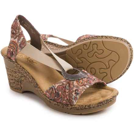 Rieker Roberta 82 Wedge Sandals (For Women) in Brown - Closeouts