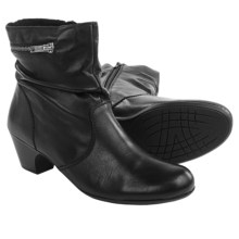 Rieker Sarah 83 Leather Ankle Boots (For Women) in Black - Closeouts