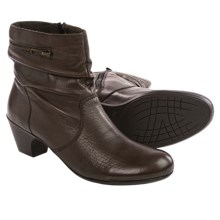 Rieker Sarah 83 Leather Ankle Boots (For Women) in Teak - Closeouts
