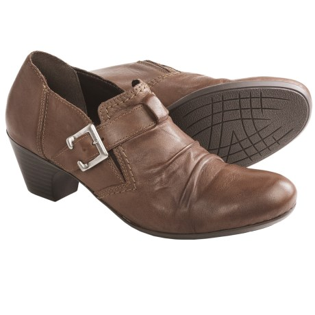 Rieker Sarah Buckle Shoes - Leather (For Women) in Peanut