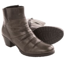 Rieker Shelby 74 Ankle Boots - Leather, Side Zip (For Women) in Smoke - Closeouts