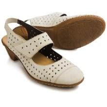 Rieker Sina 55 Sling-Back Shoes - Leather (For Women) in Beige - Closeouts