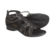 Rieker Sondra 53 Leather Sandals - Gladiator (For Women) in Black - Closeouts