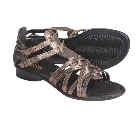 Rieker Sondra 53 Leather Sandals - Gladiator (For Women) in Titan