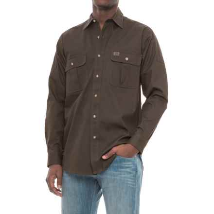 Riggs Workwear® Advanced Comfort Work Shirt - Long Sleeve (For Men) in Brown - Closeouts