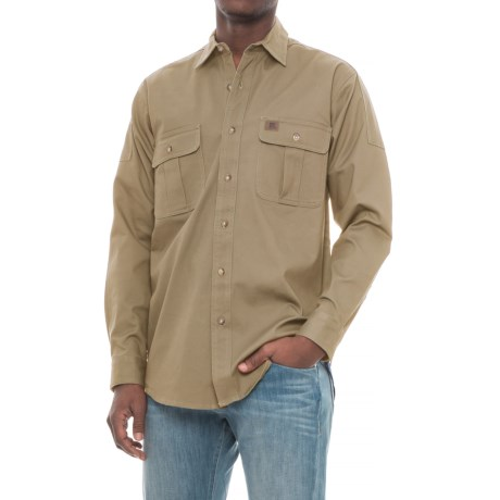 Riggs Workwear® Advanced Comfort Work Shirt - Long Sleeve (For Men) in Tan
