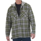 Riggs Workwear by Wrangler Flannel Work Jacket - Insulated, Attached Hood (For Men)