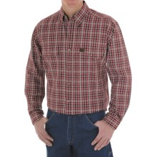 Riggs Workwear by Wrangler Foreman Plaid Work Shirt - Long Sleeve (For Men) in Wine - Closeouts