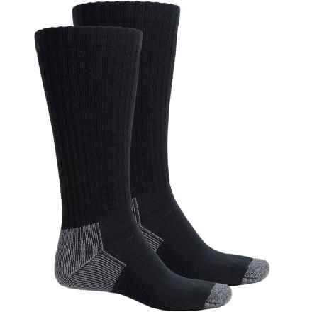 Riggs Workwear by Wrangler Steel Toe Boot Socks - 2-Pack, Mid Calf (For Men) in Black - Closeouts