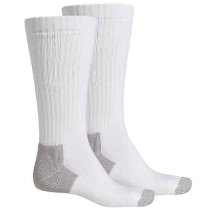 Riggs Workwear by Wrangler Steel Toe Boot Socks - 2-Pack, Mid Calf (For Men) in White - Closeouts