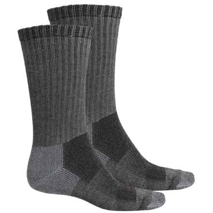 Riggs Workwear by Wrangler Work Socks - 2-Pack, Mid Calf (For Men) in Black - Closeouts