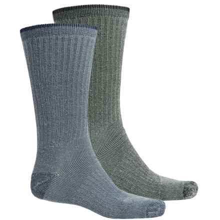 Riggs Workwear by Wrangler Work Socks - 2-Pack, Mid Calf (For Men) in Navy/Black - Closeouts