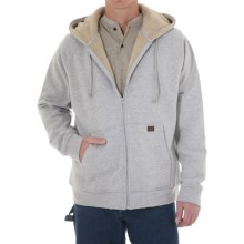 Riggs Workwear by Wrangler Zip Hooded Sweatshirt - Sherpa Lined (For Men) in Ash Heather - Closeouts