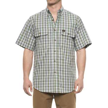 Riggs Workwear® Foreman Shirt - Short Sleeve (For Men) in Green Plaid - Closeouts