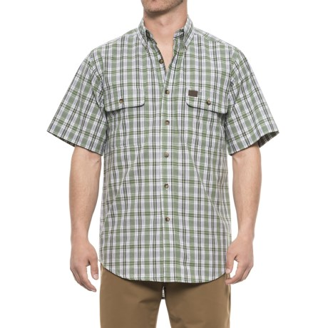 Riggs Workwear® Foreman Shirt - Short Sleeve (For Men) in Green Plaid