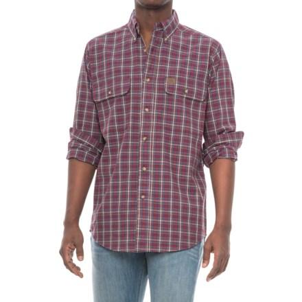 28bfe1dd4f Riggs Workwear® Foreman Work Shirt - Long Sleeve (For Men) in Burgundy Plaid