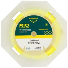 Rio Coldwater OutBound Fly Fishing Line - Saltwater, Weight Forward, Floating, Intermediate in Clear/Yellow - Closeouts