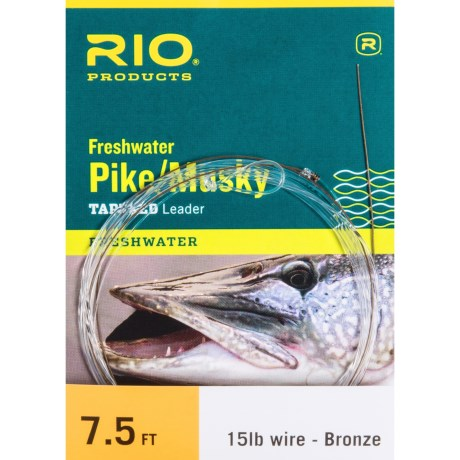 """Rio Pike/Musky Tapered Leader - 7'6"""" in Bronze"""