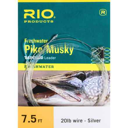"Rio Pike/Musky Tapered Leader - 7'6"" in Silver/Clear - Closeouts"