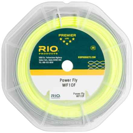 Rio Power Fly Freshwater Fly Line - Weight Forward, 100' in Yellow/Dark Grey - Closeouts