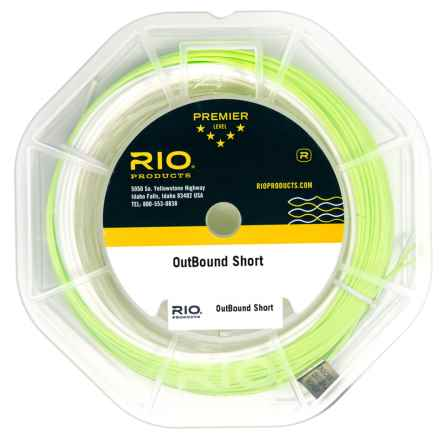 Rio Short Freshwater Fly Line - Floating-Intermediate, Weight Forward in Clear/Ivory/Green - Closeouts