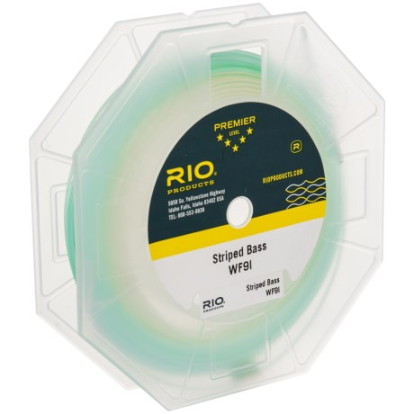 Rio Striper Saltwater Fly Line - Weight Forward, Intermediate in Clear/Trans Green