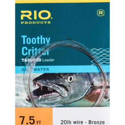Rio Toothy Critter Tapered Leader - 7.5' in Bronze - Closeouts