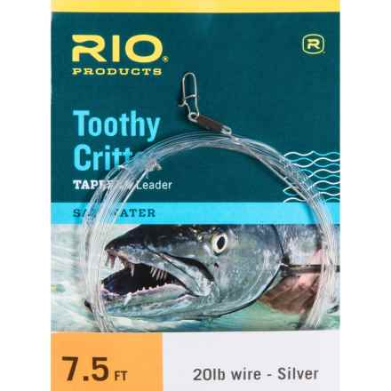 Rio Toothy Critter Tapered Leader - 7.5' in Silver/Clear - Closeouts