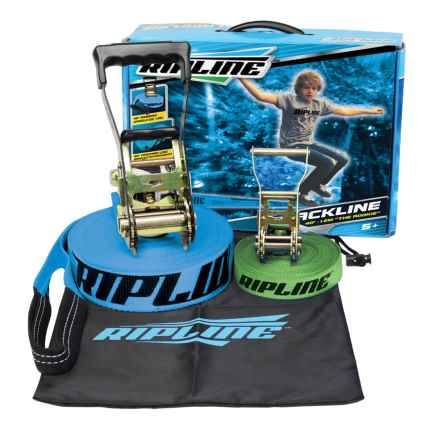 Ripline Rookie Slackline With Teaching Line Kit - 40' in See Photo - Closeouts