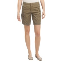 Ripstop Cargo Shorts (For Women) in Olive - 2nds