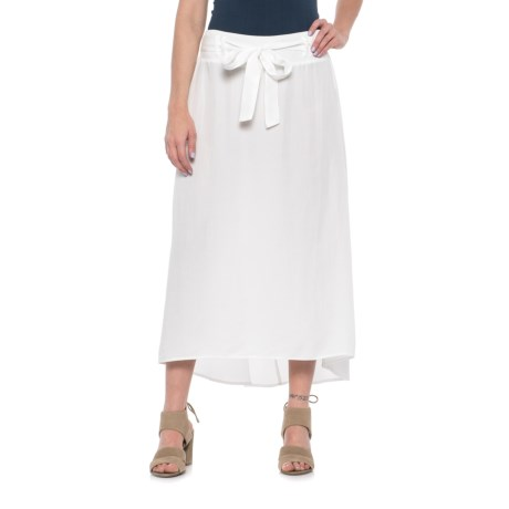 River & Rose Belted High-Low Skirt (For Women) in White