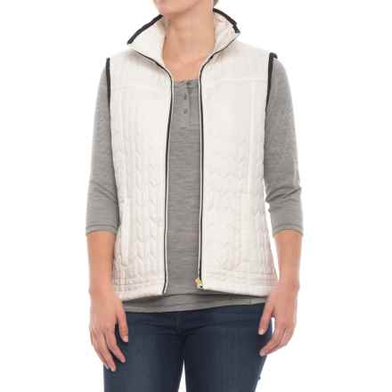 River & Rose Fleece-Lined Quilted Vest (For Women) in Ivory - Overstock