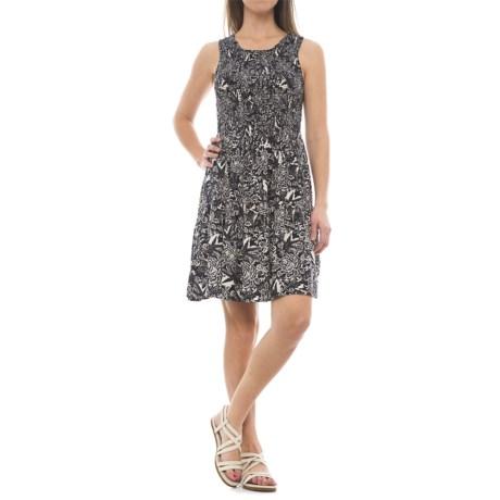 River & Rose Graphic Print Smocked Dress - Sleeveless (For Women)