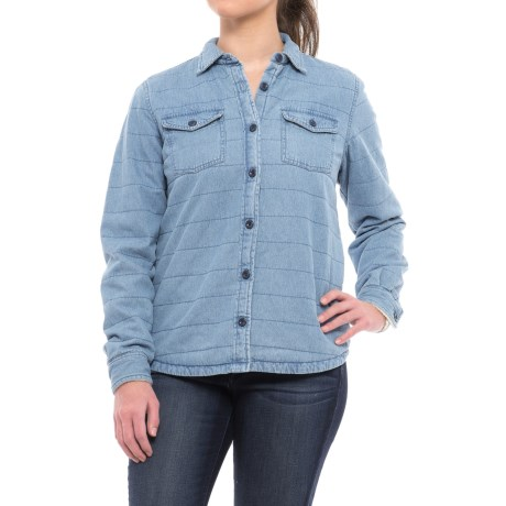 River & Rose Sherpa-Lined Shirt Jacket (For Women) in Chambray