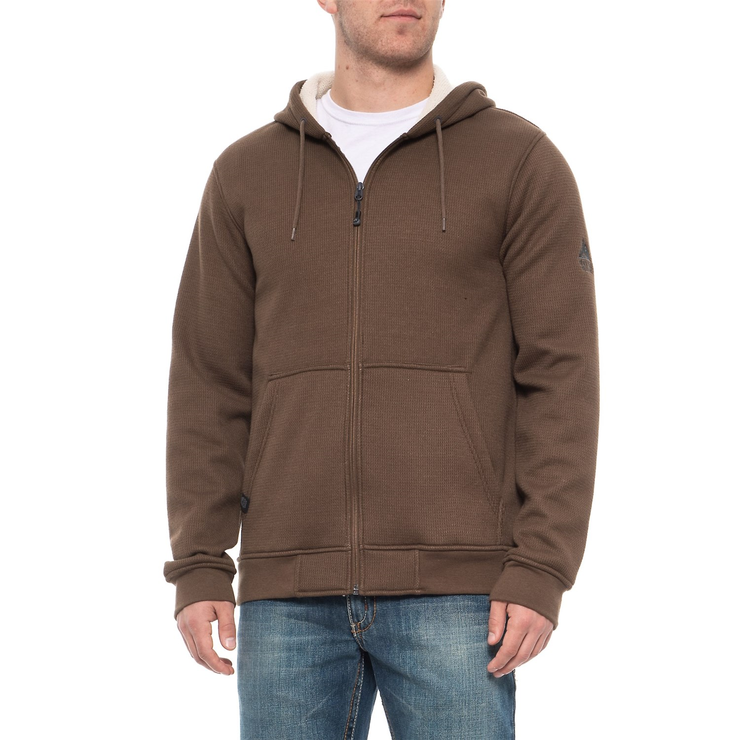 River S Edge Cirus Sherpa Lined Waffle Knit Hoodie For Men Save 70