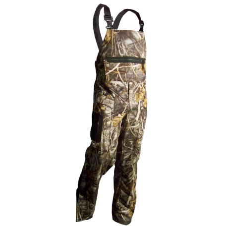 Rivers West Outlaw Lightweight Fleece Bib Overalls - Waterproof (For Men) in Realtree Max-4