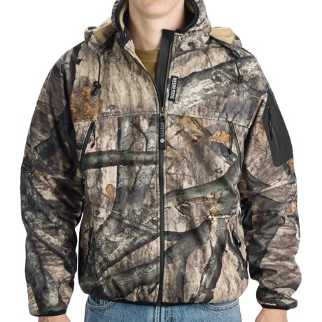 Rivers West Spider Hooded Lightweight Fleece Jacket - Waterproof (For Men) in Mossy Oak Treestand