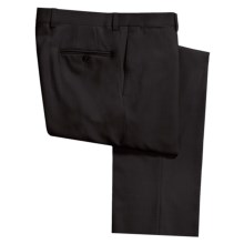 Riviera Alfio Dress Pants - Wool Gabardine, Flat Front (For Men) in Black - Closeouts