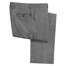 Riviera Alfio Dress Pants - Wool Gabardine, Flat Front (For Men) in Med Grey - Closeouts