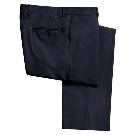 Riviera Alfio Dress Pants - Wool Gabardine, Flat Front (For Men) in Med Grey