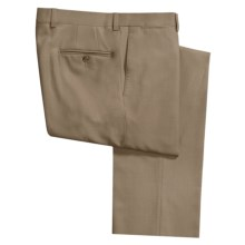 Riviera Alfio Dress Pants - Wool Gabardine, Flat Front (For Men) in Tan - Closeouts