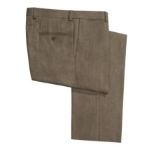 Riviera Alfio Twill Pants - Lambswool, Flat Front (For Men) in Mocha - Closeouts