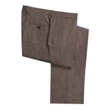 Riviera Armando Wool Dress Pants - Flat Front (For Men) in Heathered Brown - Closeouts