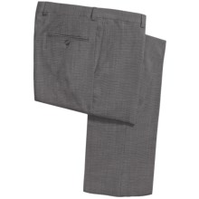 Riviera Armando Wool Neat Pants - Flat Front (For Men) in Black/White - Closeouts